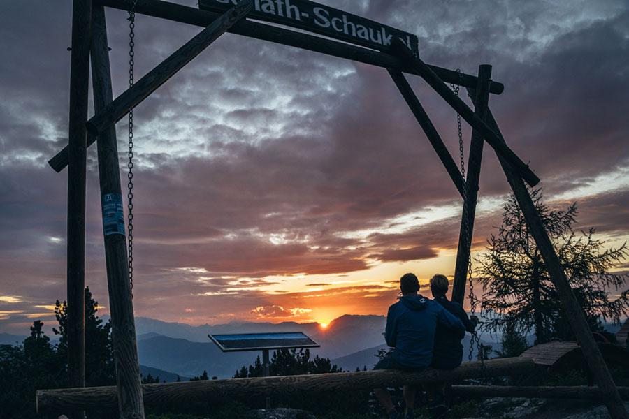 Fageralm-Wandern-Sonnenuntergang-(C)TVB-Forstau-(1)